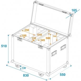 ROADINGER Flightcase 2x EYE-37 #5