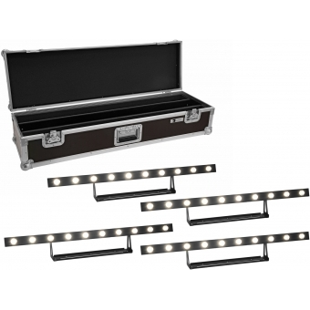 EUROLITE Set 2x LED STP-10 Sunbar 3200K 10x5W Light Bar + Case