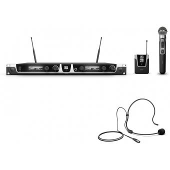 Sistem wireless microfon cu headset si microfon de mana LD Systems U 506 HBH 2