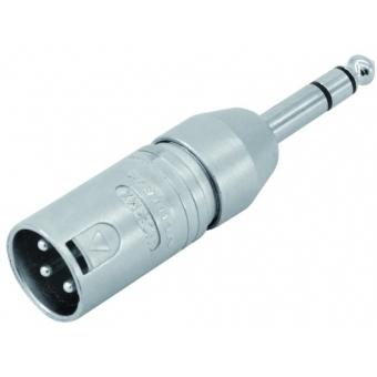 NEUTRIK Adapter XLR(M)/6.35 Jack stereo NA3MP