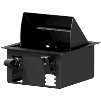 CASY024/B - CASY In-table mount box - 4 space - Black version - RAL9004