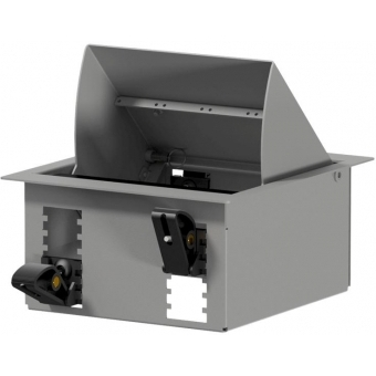 CASY024/G - CASY In-table mount box - 4 space - Grey version - RAL9006