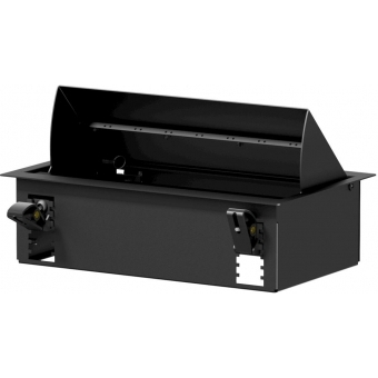 CASY028/B - CASY In-table mount box - 8 space - Black version - RAL9004