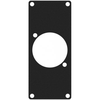 CASY108/B - CASY 1 space cover plate - 1x powerCON TRUE1 outlet connector hole - Black version