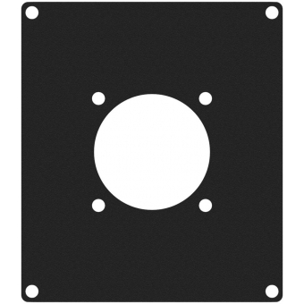 CASY205/B - CASY 2 space cover plate - 1x G-size hole - Black version