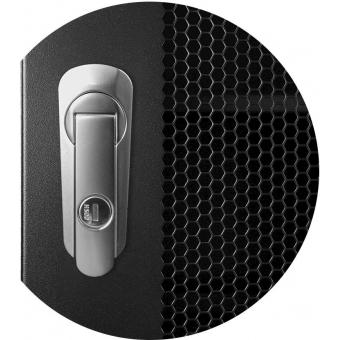 "SPR8842GG/B - 19"" rack cabinet - 42 units - 800mm W x 800mm D - Grill front & rear door - Black version - 800mm width"