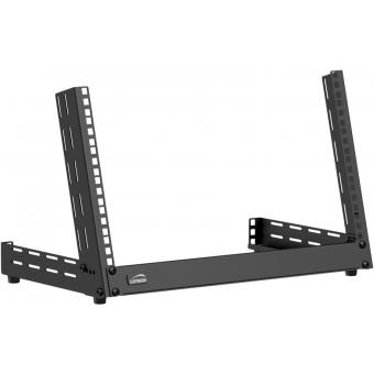 TPR306A/B - Desktop open frame rack - 6 units - Adjustable angle 0°~15° - Black