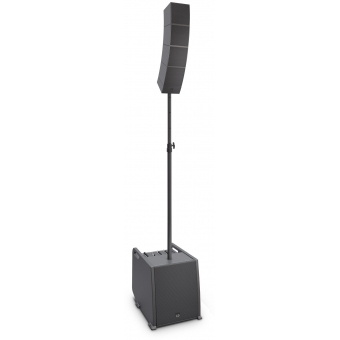 LD Systems CURV 500 ES Portable Array System Entertainer Set Including Distance Bar & Speaker Cable