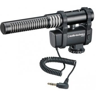 Microfon stereo/mono cu montură pentru cameră video Audio-technica AT8024