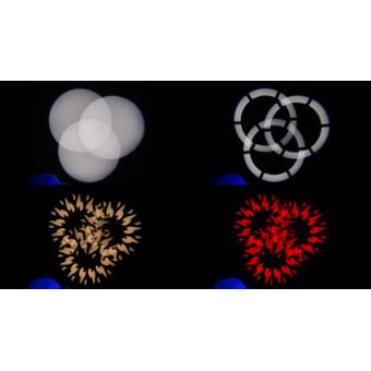 PIXIESPOTBK - LED spot moving head, 60 W RGBW / FC Osram Ostar LED, 18,7°, 112 W, 7 kg BK #12