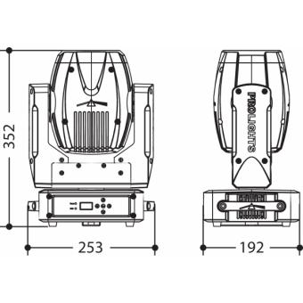 PIXIESPOTBK - LED spot moving head, 60 W RGBW / FC Osram Ostar LED, 18,7°, 112 W, 7 kg BK #7