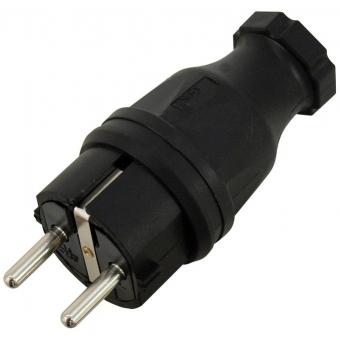 PC ELECTRIC Safety Plug Rubber bk