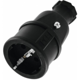 PC ELECTRIC Safety Connector Rubber bk