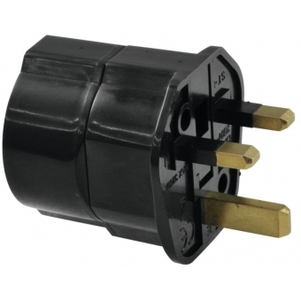 OMNITRONIC Adapter EU/UK plug 13A bk #2