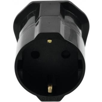 OMNITRONIC Adapter EU/UK plug 13A bk #3