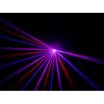 KRYPTON200RBP - Laser projector, red (100 mW), blue (100 mW), purple (200 mW) mixed, DMX #3