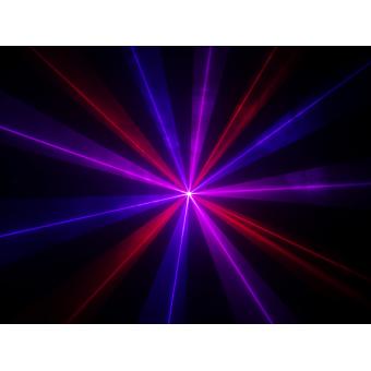 KRYPTON200RBP - Laser projector, red (100 mW), blue (100 mW), purple (200 mW) mixed, DMX #5