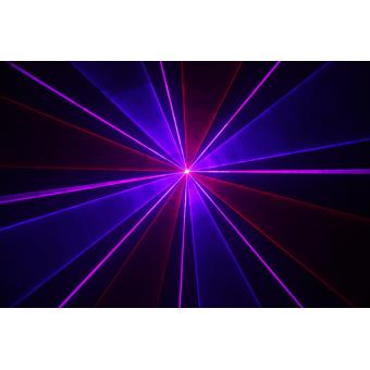 KRYPTON200RBP - Laser projector, red (100 mW), blue (100 mW), purple (200 mW) mixed, DMX #6