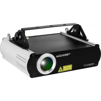 WIZARD - RGB laser projector, green (100mW) red (120mW) blue(600mW), DMX, ILDA, SDcard