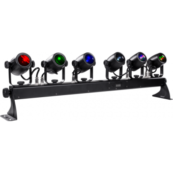6BEAMQ - Set composed by 6x12 W RGBW LEDscolour changers, 14,8° beam, IP30, 59,6 W, 6 kg #3