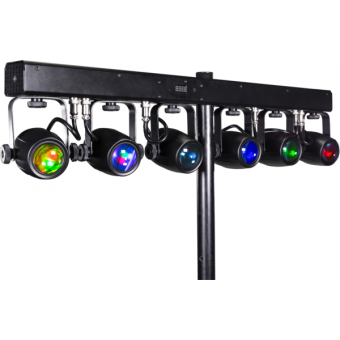 6BEAMQ - Set composed by 6x12 W RGBW LEDscolour changers, 14,8° beam, IP30, 59,6 W, 6 kg