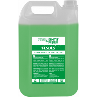 FLSDL5 - Super-density fluid for fog machines, green fluid, 5L