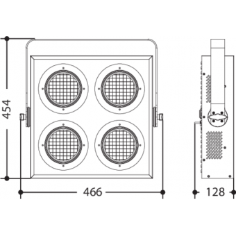 SUNRISE4 - 4x100 W high-efficiency COB LED blinder, 50° beam, 281 W, 11,4 kg #5