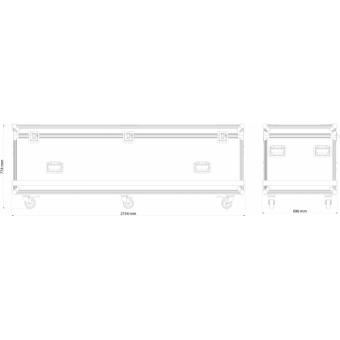 OXFCM8026 - Flightcase for 8 pcs OMEGAX26B-39B series LED-display, 1.200x600x806 mm #13