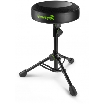 Gravity FD SEAT 1 Round Musicians Stool Foldable, Adjustable Height