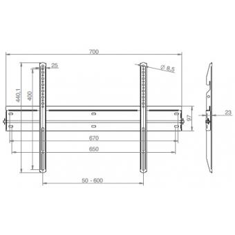 ULTRA-SLIM – wall flat panel mount #2