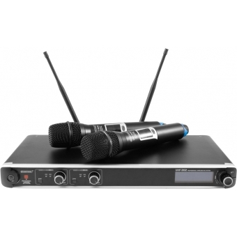 OMNITRONIC UHF-302 2-Channel Wireless Mic System 823-832/863-865MHz