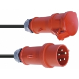 PSSO CEE Extension 16A 5x2.5 20m red
