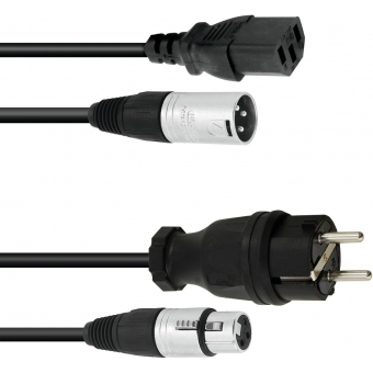 PSSO Combi Cable Safety Plug/XLR 10m