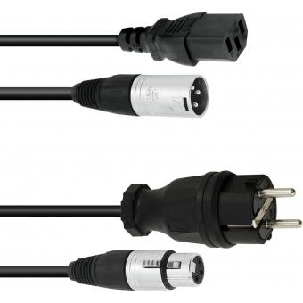 PSSO Combi Cable Safety Plug/XLR 10m