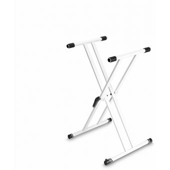 Gravity KSX 2 W - Keyboard Stand X-Form, Double, White
