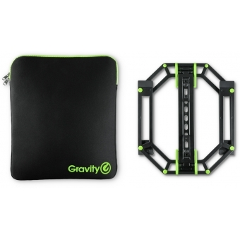 Gravity LTS 01 B SET 1 - Adjustable stand for Laptops and Controllers including Neoprene Protection Bag
