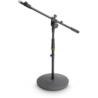 Gravity MS 2222 B - Short Microphone Stand with Round Base and 2-Point Adjustment Telescoping Boom #2