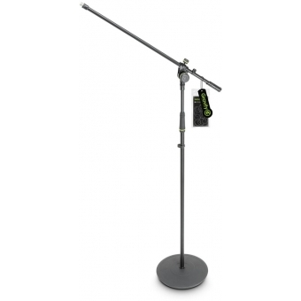 Gravity MS 2321 B - Microphone Stand with Round Base and 2-Point Adjustment Boom