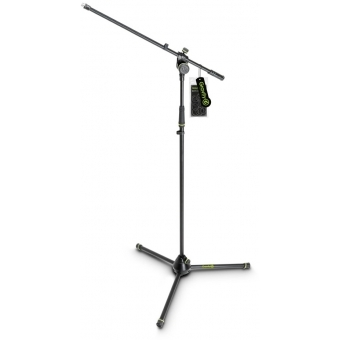 Gravity MS 4321 B - Microphone Stand with Folding Tripod Base and 2-Point Adjustment Boom