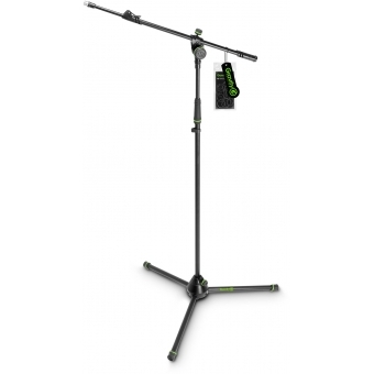 Gravity MS 4322 B - Microphone Stand with Folding Tripod Base and 2-Point Adjustment Telescoping Boom