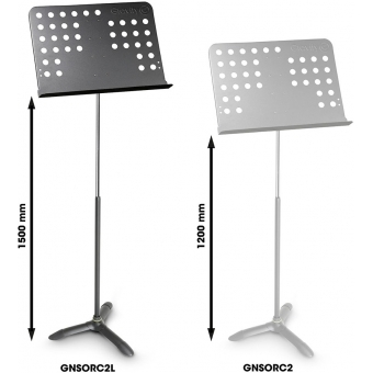 Gravity NS ORC 2 L - Tall Music Stand Orchestra with Perforated Desk #5