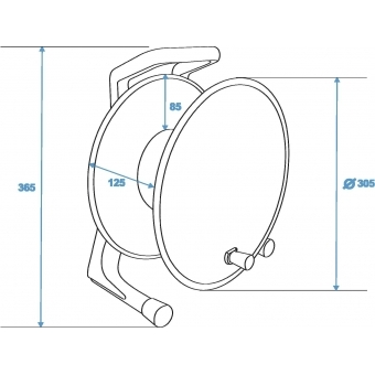 SCHILL Cable Drum IT300.SO A=305/C=125 #5
