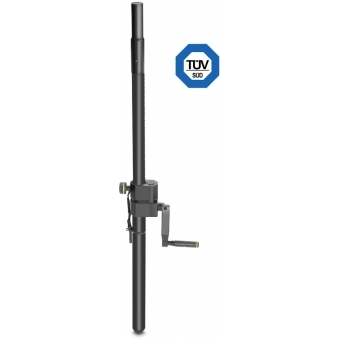 Gravity SP 2472 B - Adjustable Speaker Pole with Crank, 35mm to M20,