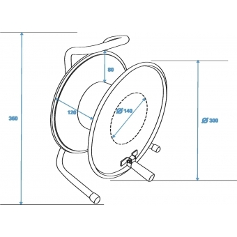 SCHILL Cable Drum HT300.SO A=300/C=125 #5