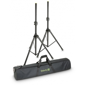 Gravity SS 5212 B SET 1 - Speaker Stand Set of 2 Speaker Stands, Steel, with carrying bag