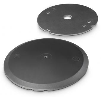 Gravity WB 123 SET 1 B - Round Cast Iron Base and Weight Plate Set for M20 Poles