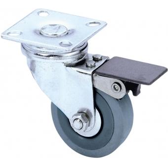 Guitel 3703 - Swivel Castor 50 mm with grey Wheel and Brake