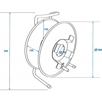 SCHILL Cable Drum HT480.RM A=460/C=142 #5