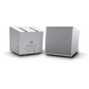 LD Systems CURV 500 S2 W - Two Array Satellites for the CURV 500® Portable Array System, White #2