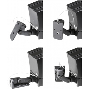 LD Systems CURV 500 WMB - Wall mounting bracket for CURV 500® satellites black #4